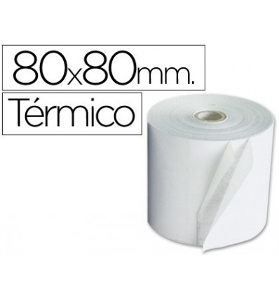 ROLL ADDING THERMAL Q-CONNECT 80 MM WIDTH X 80 MM DIAMETER 5 Pcs