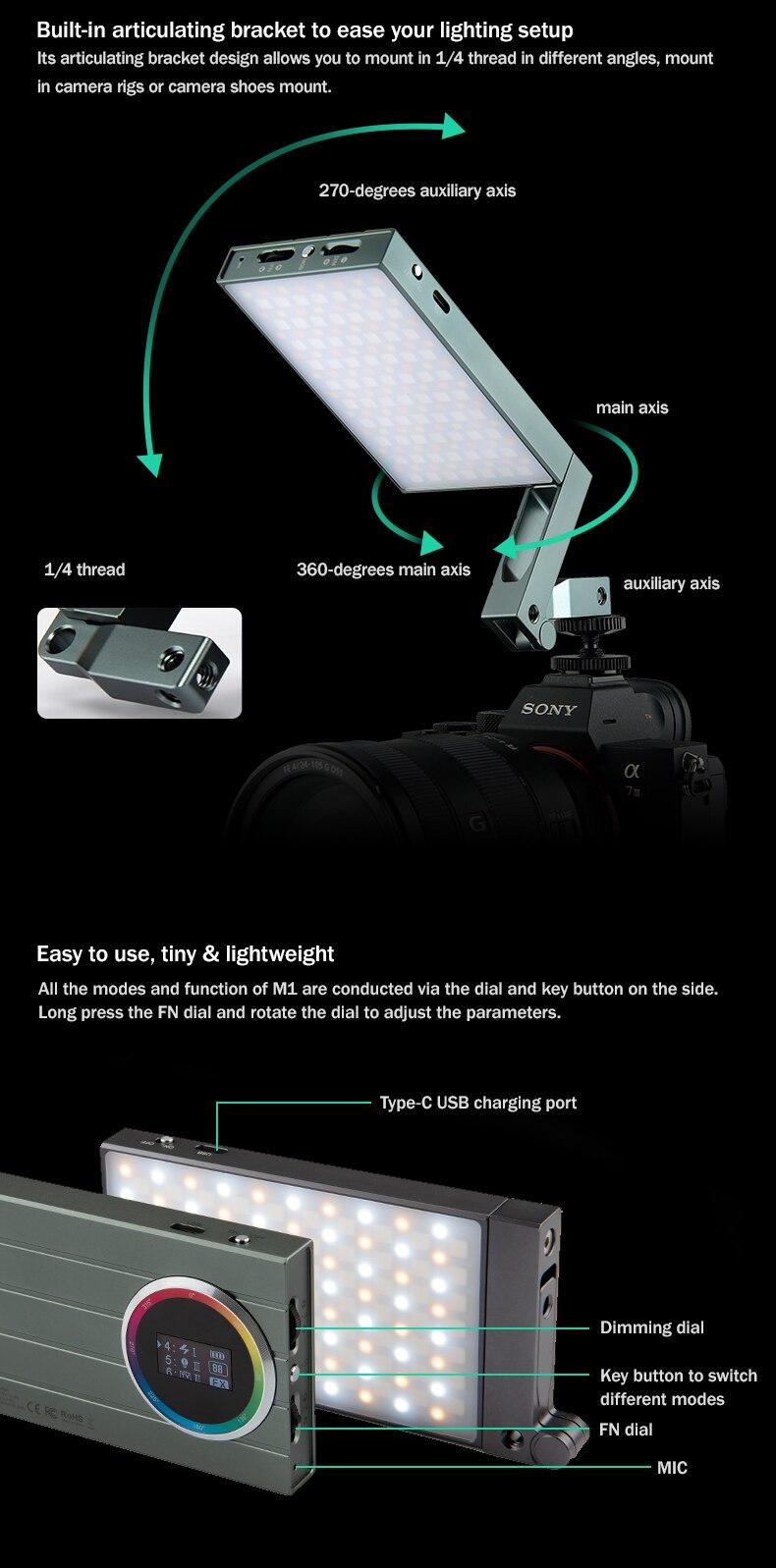 Godox M1 RGB MINI Creative Light 5