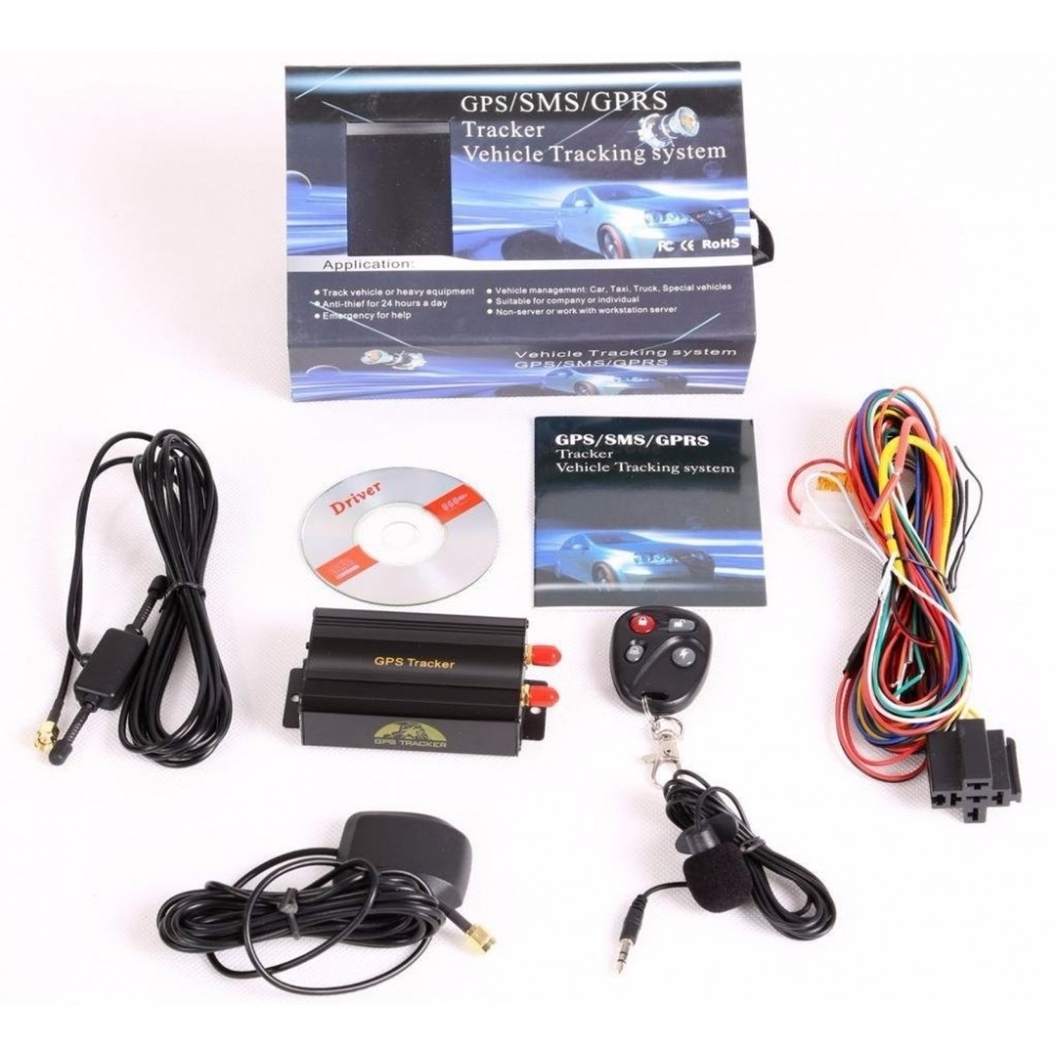 цена на AUTO GPS/SMS/GPRS TRACKER TK103B CAR VEHICLE TRACKING SYSTEM WITH REMOTE CHECKPOINT