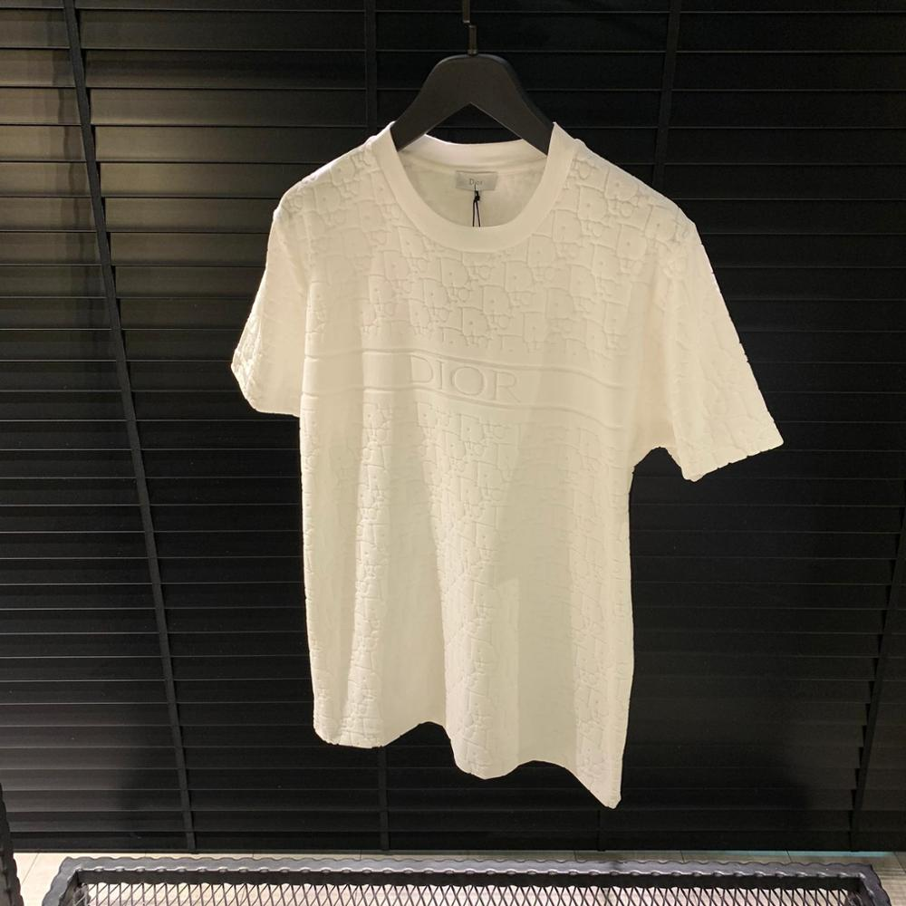 T Shirt Slim Fit White  T Shirt Men %100 Cotton New Session Terry Cloth Luxury Wear