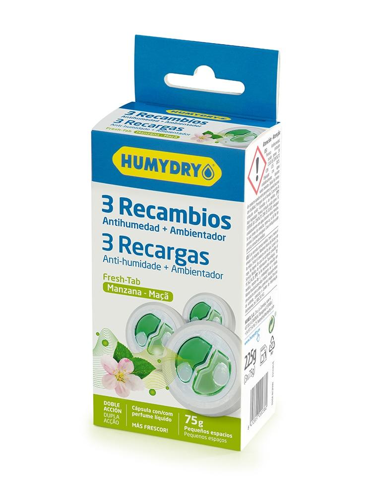 HUMYDRY Recambios Antihumedad Mini Tab 3x75g Manzana