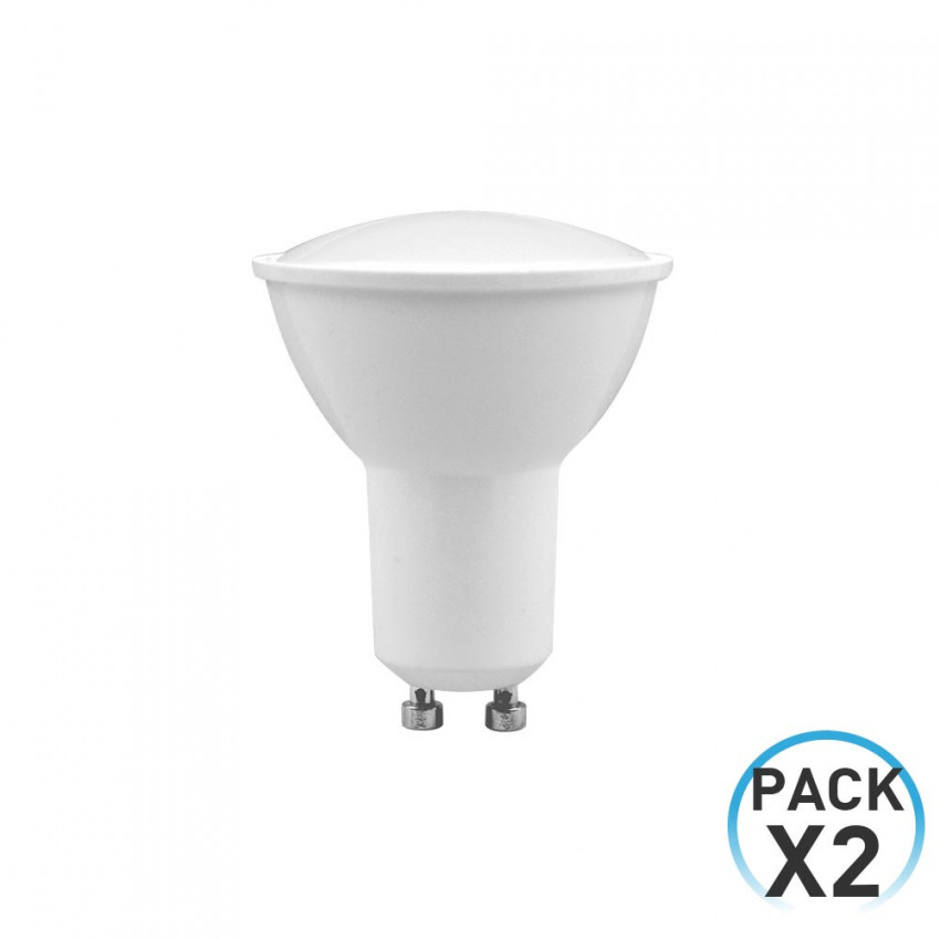 Pack 2 LED Spotlight Bulbs GU10 8W Equi.60W 700lm 25000H