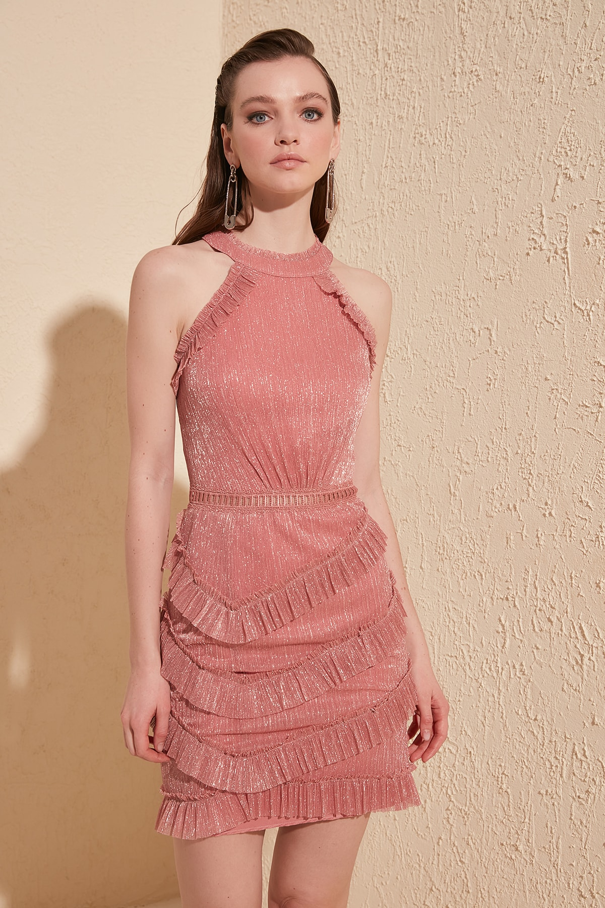Trendyol Collar Detail Dress TPRSS20EL1189
