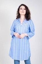 Women Striped Blue Tunic