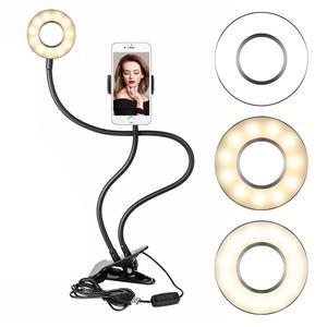 Lampa pierścieniowa Led pierścień profesjonalny strumień na żywo [magazyn w rosji] darmowa wysyłka pierścień makijaż lampa do Selfie