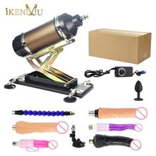 IKenmu חזק כוח מכונת סקס אקדח אוטומטי ויברטור אהבת מכונה עם 7 דילדואים קובץ מצורף למבוגרים צעצועי מין mashine