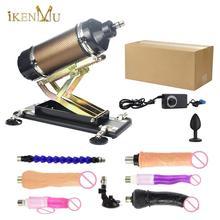 IKenmu mocniejsza moc Sex Machine Gun automatyczny wibrator miłość maszyna z 7 dildo załącznik zabawki dla dorosłych sex mashine