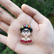 FAIRYWOO Cute Lady Neclace Mexico Fashion Jewelry Bohemia Flower Girls Miyuki Beaded Pendant Necklace Accessories Handmade Gifts(China)