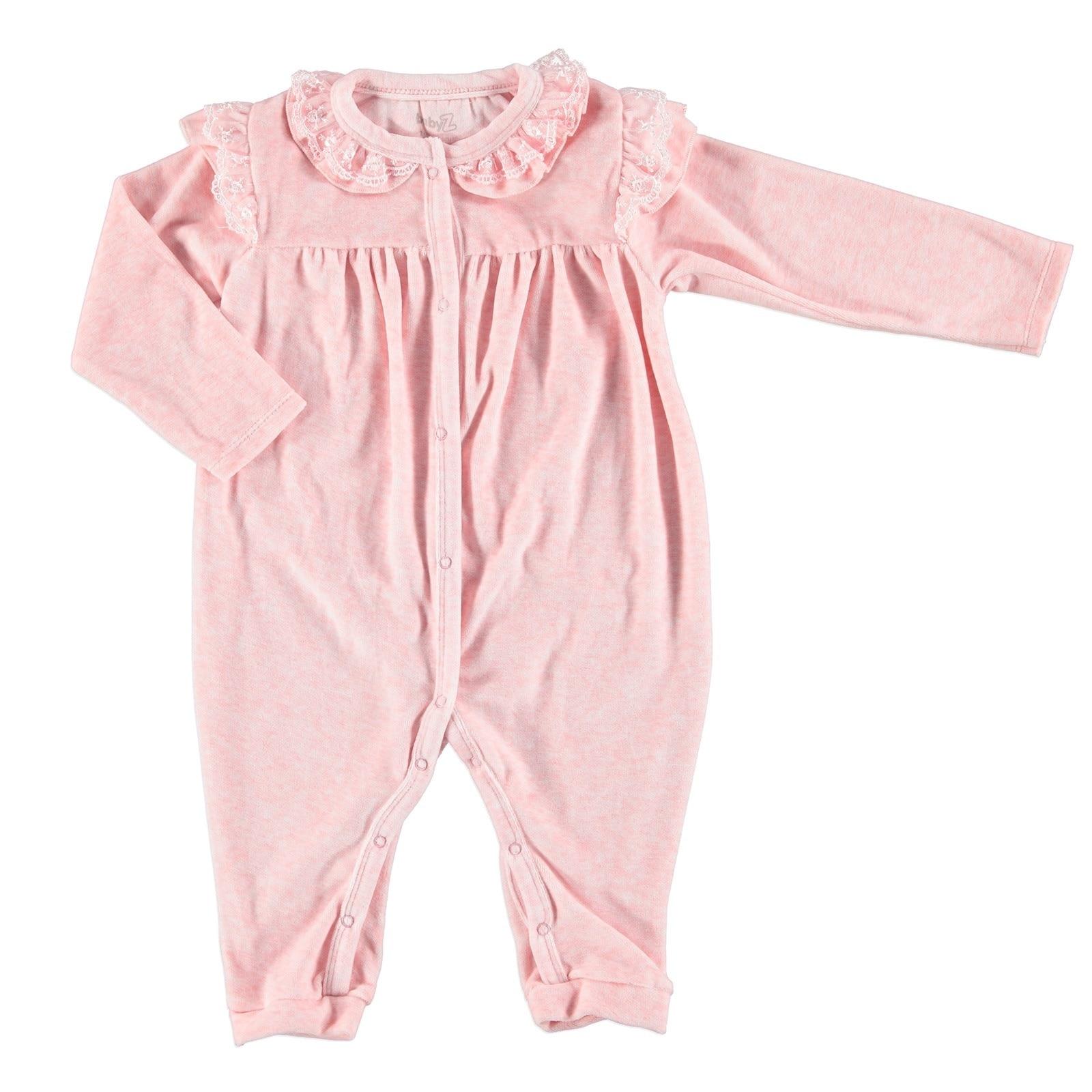 Ebebek BabyZ Baby Lacy Detail Footless Romper