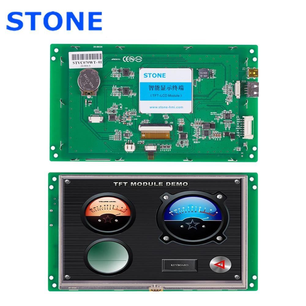 STONE HMI Intelligent TFT <font><b>LCD</b></font> Module <font><b>7</b></font> <font><b>inch</b></font> with Touch Screen+Software+Program image