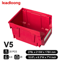 LEADLOONG-V6 20PCS| Classic Accessories Screws Stacked Plastic Front Open Storage Bins Box