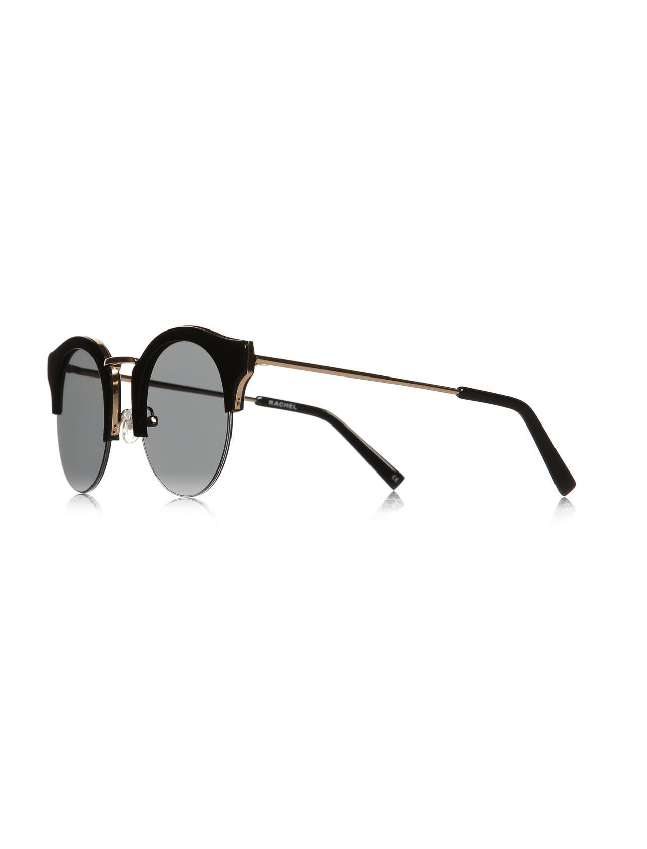 Women's sunglasses rh 15798 02 bone black organic oval aval 50-22-150 rachel