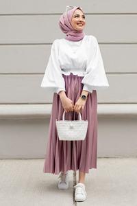 Мусульманский костюм абайя, хиджаб, платье, 2 предмета, низ и топ, модная, 4 сезона, мусульманская одежда, Caftan Ramadan, Дубай, Сделано в Турции