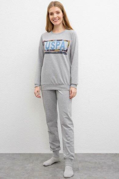 U.S. POLO ASSN. Gray Pajamas Set