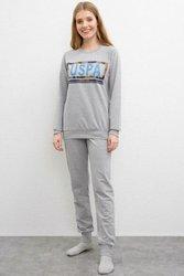 US POLO ASSN. Grijze Pyjama Set