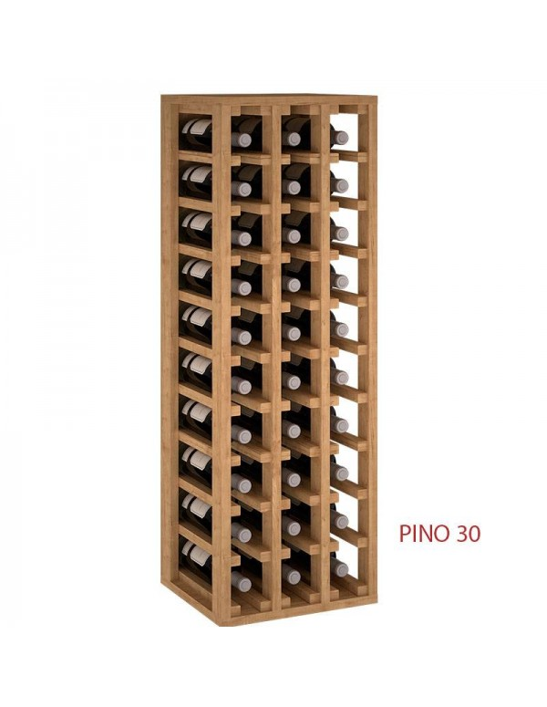 Botellero De Madera 30 Botellas