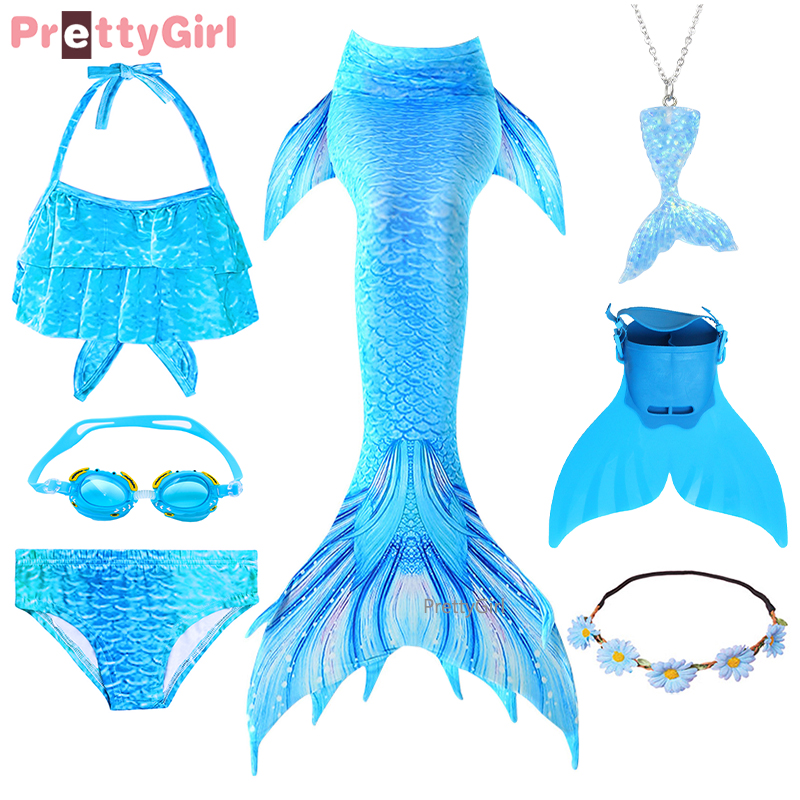 Vestido de verano de cola de sirena, traje de baño para vacaciones, Bikini, disfraz de sirena, Cosplay para nadar en la piscina