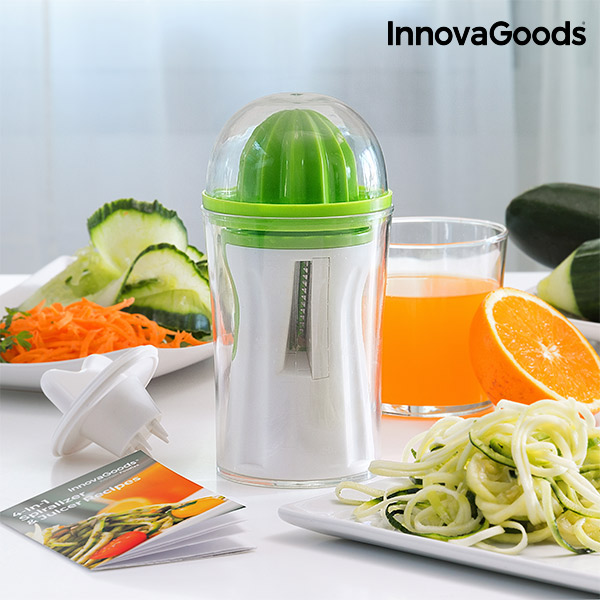 InnovaGoods 4-in-1 Spiralizer & Juicer with Recipe Book image