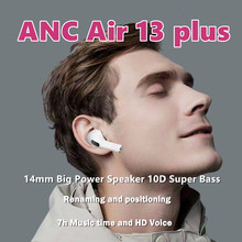 Nouveau casque Bluetooth 5.1 ANC Air13 plus TWS, avec caisson de basses, PK Air21 20 30 40 i90000 99999 999999 900000