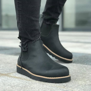 Chekich Boots for Men Black Winter Shoes Snow Boots Shoes Boot Men's Fashion Plus Size Ankle Men Sneakers Shoes made in Turkey Winter Boots Footwear Men Basic Boots Shoes Men 2021 Winter Boots For Men Spring Fashion winter men boots 100