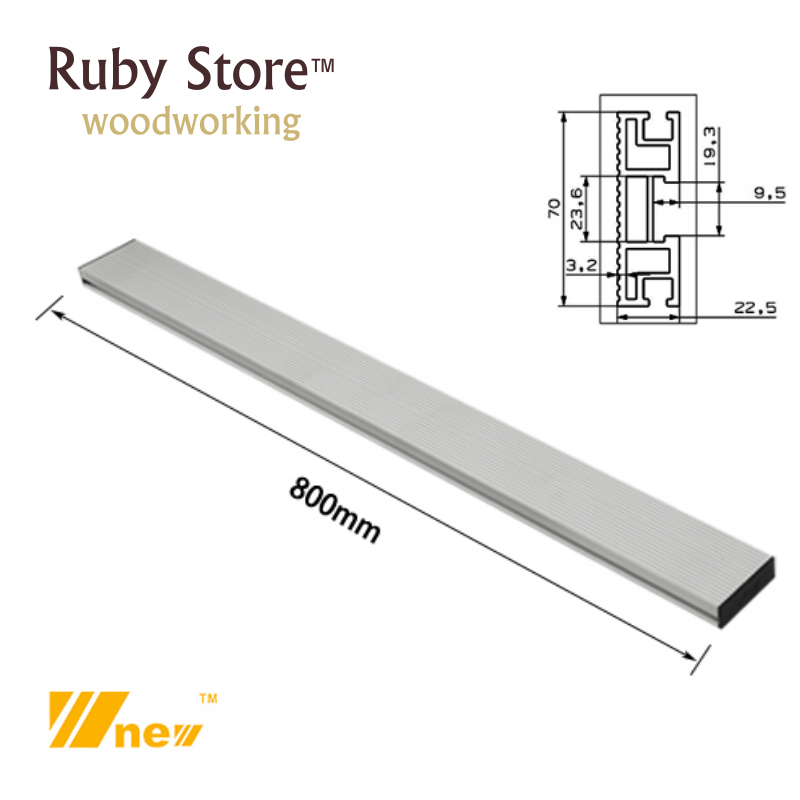 800mm W-new Aluminium Profile / Fence, Woodworking, Table Saw, CNC