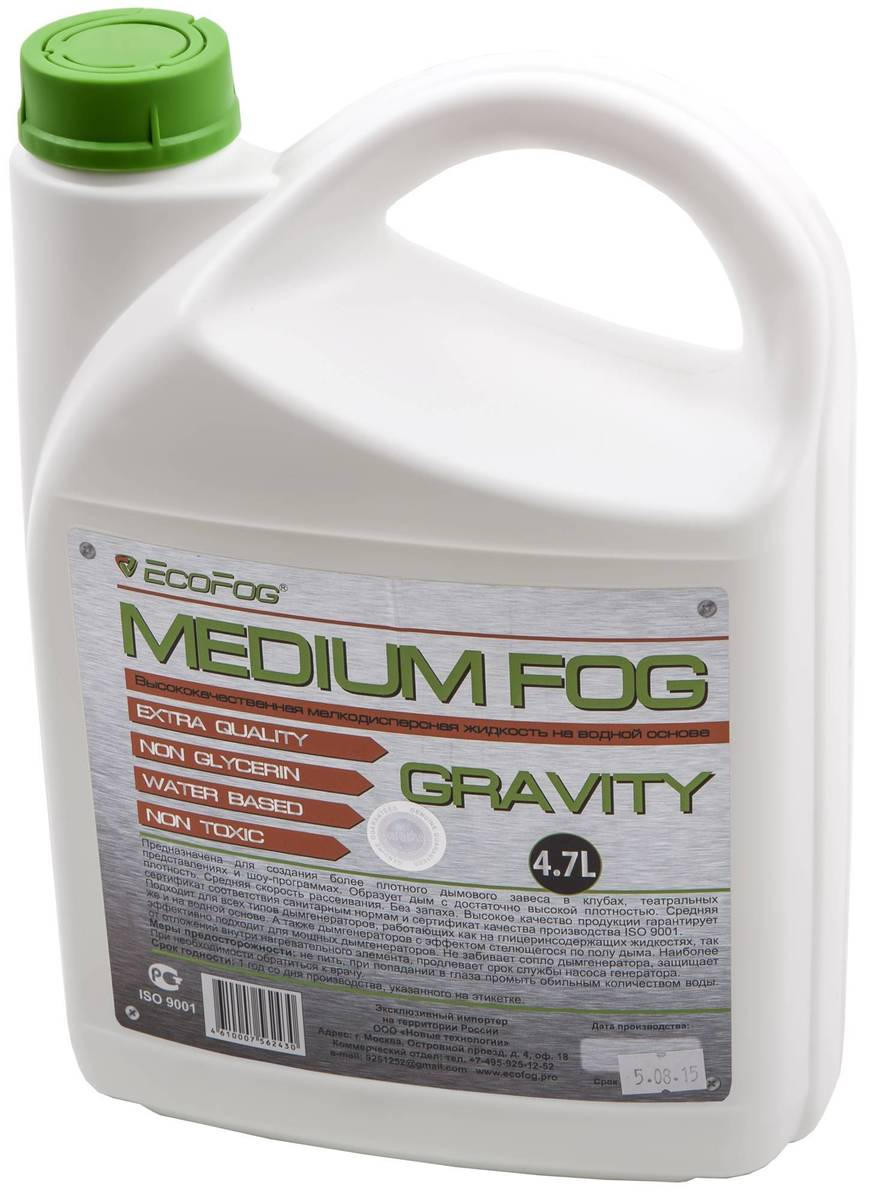 EF-gravity Liquid For Smoke Machines, Ecofog