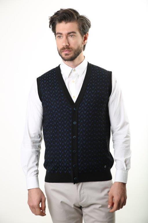 Sweater V Collar Men 'S Wool Vest 3848