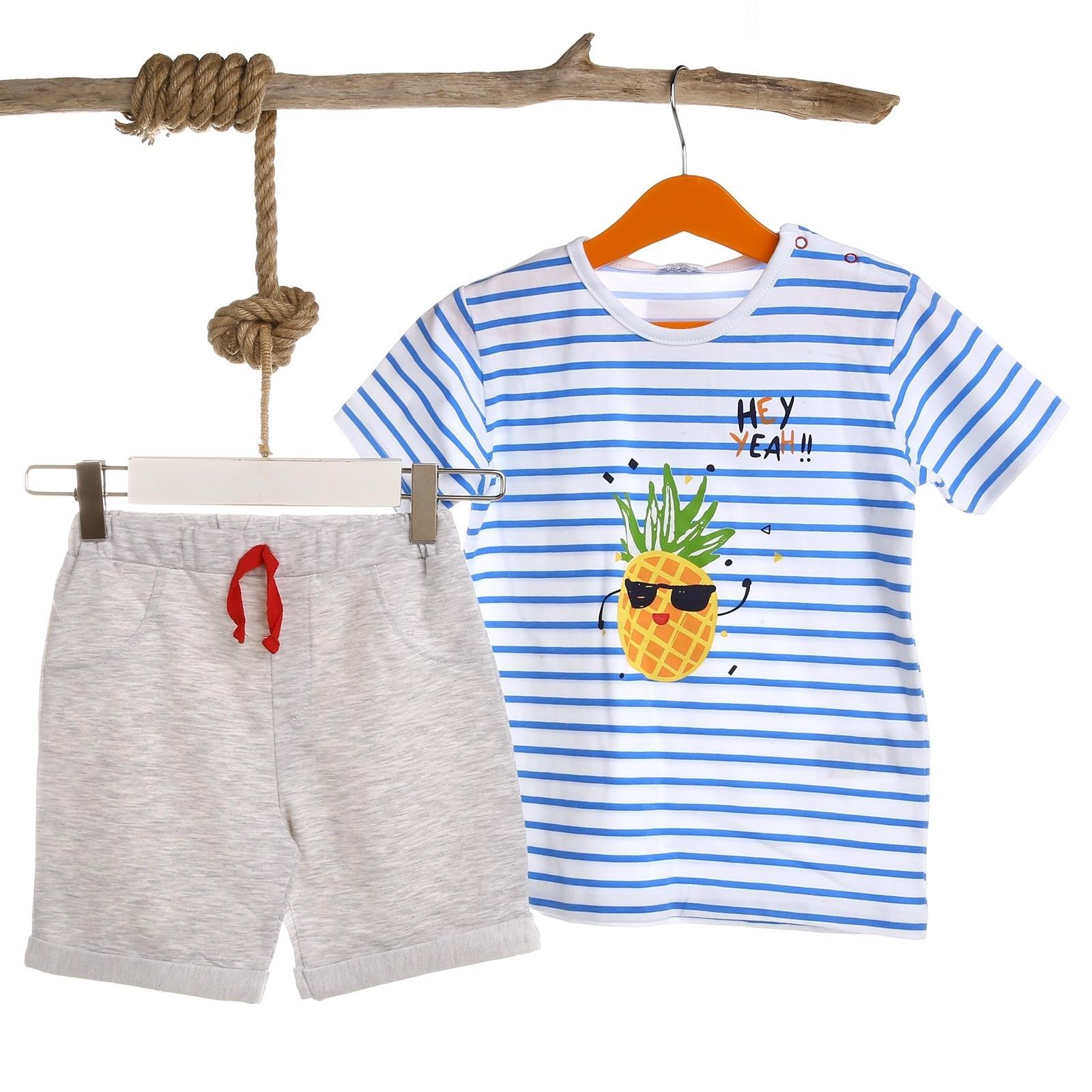Ebebek Luggi Baby Boy Pineapple Tshirt Short