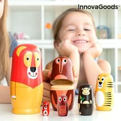 Matryoshka Wooden Animal Figures Funimals InnovaGoods 11 Pieces