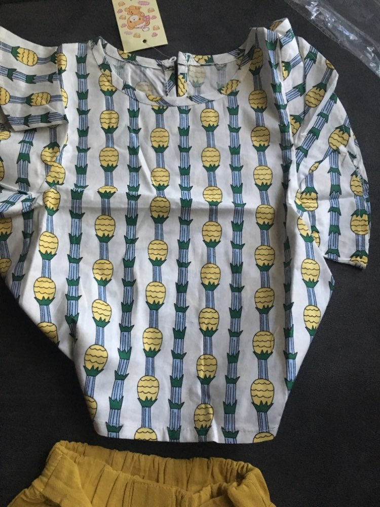 Conjuntos de roupas Casual Crianças Abacaxi