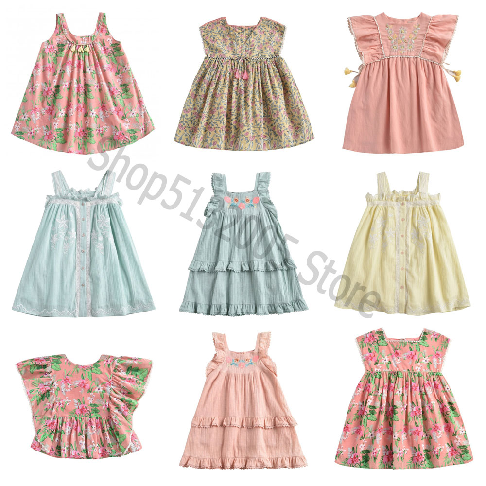 Pre-sale 2020 Spring and Summer New LM Series Ethnic Style Girl Embroidered Dress Girls Party Dress