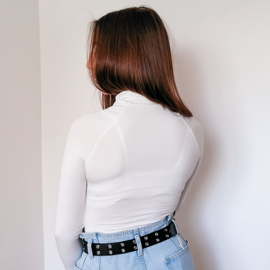 Evenworse Sexy Zipper Bodycon Jumpsuit 2020 Spring Fashion Long Sleeve Round Collar Slim Black Bodysuit Nightclub Club Christmas reviews №4 57219