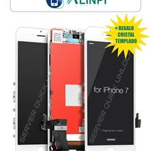 Pantalla Completa para iPhone 7 Blanca Tactil Digitalizador LCD + + Marco Blanco + Cristal Templado Calidad AAA + Envio 24h