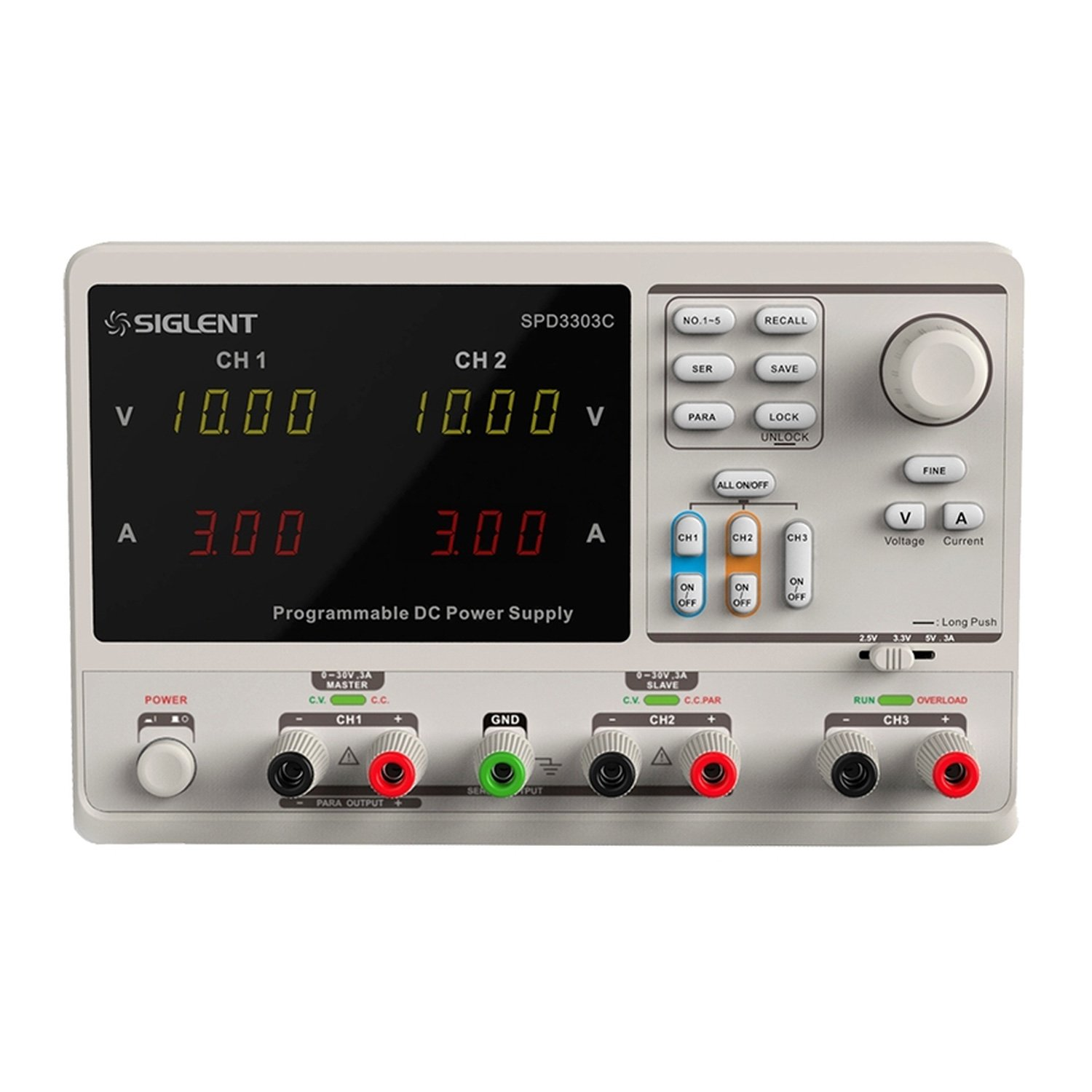 Siglent SPD3303C 0-30V Threefold Output DC Bench Power Supply 600w 48v 12 5a rainproof outdoor single output switching power supply smps ac to dc for led fy 600 48