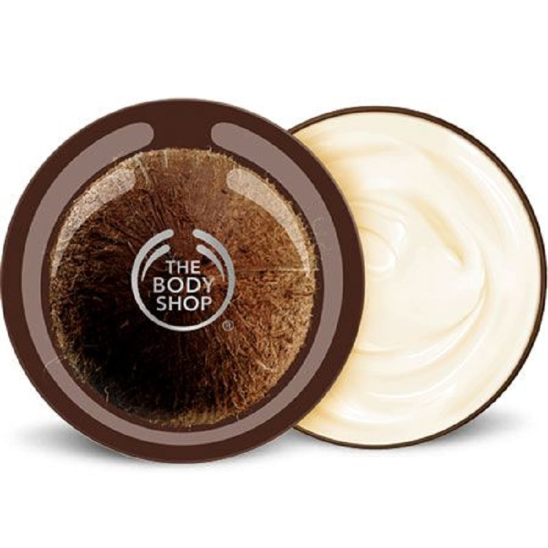 The Body Shop Coconut Body Butter 50 Ml Moisturizing Nourishing Pampering Dry Skin Treatment Shea Oil
