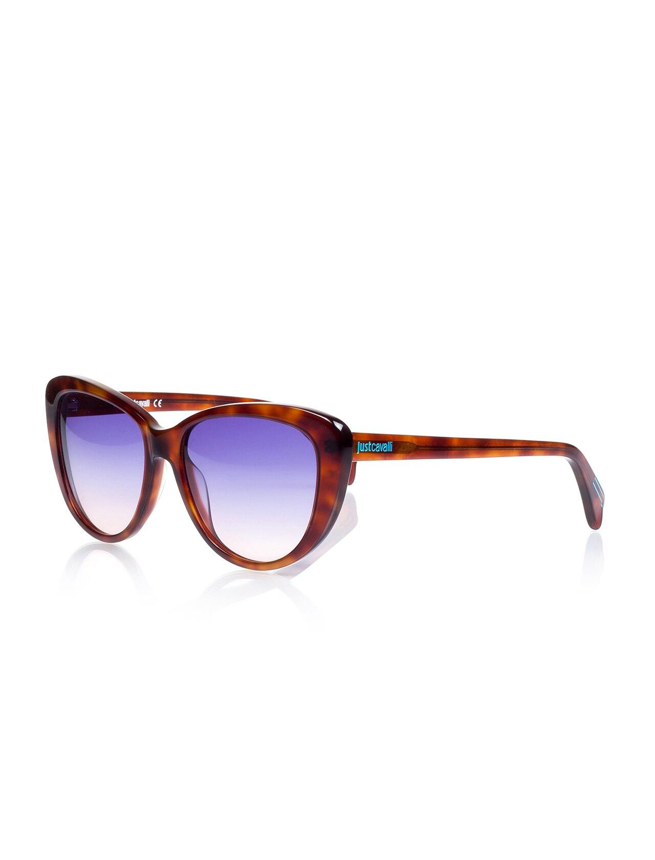 Women's sunglasses jc 646 53v bone Brown organic oval aval 57-16-135 just cavalli