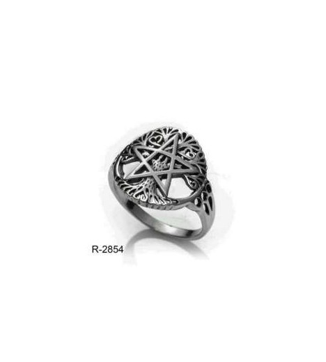 RING Pentagram Wicca Sterling SILVER (made In Spain)