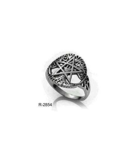 RING Pentagram Wicca Sterling SILVER (made In Spain)