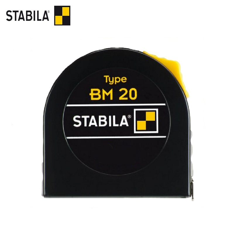 STABILA Tape Measure Type BM 20 3m x 13mm Magnetic hook Portable Retractable Ruler measuring tools tape measure pro skit dk 2040 3m tpr durable blade measuring tape w magnetic end hood black