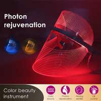 3 цвета светодиодный светильник терапевтическая маска для лица анти Прыщи против морщин спа-инструмент для ухода за кожей лица