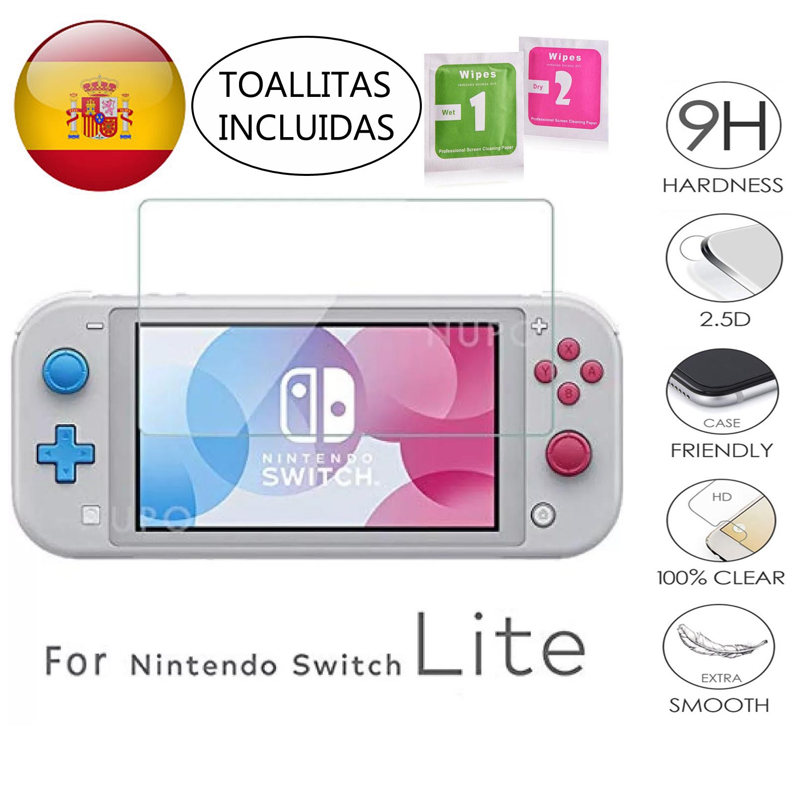 LCD Cover Screen Protector For Nintendo Switch LITE Tempered Glass 9H 2.5D Glass Premium 0,3mm