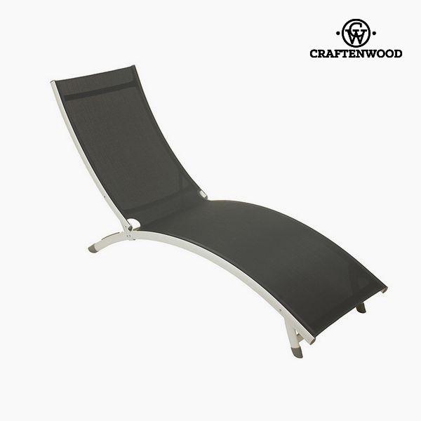 Sun-lounger (180 X 55 X 25 Cm) Aluminium Grey