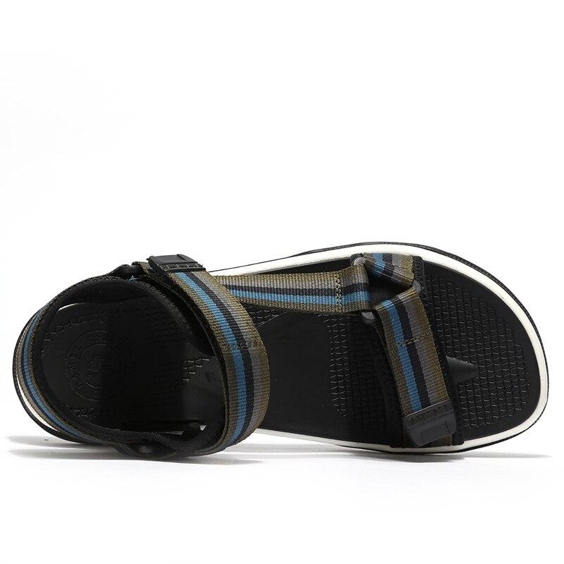 الجمل الربيع الرجال الصنادل مريحة تنفس حقيقية أحذية من الجلد الرجال في الهواء الطلق صنادل شاطئ خفيفة الوزن أحذية رجالي-في صنادل رجالية من أحذية على  مجموعة 3
