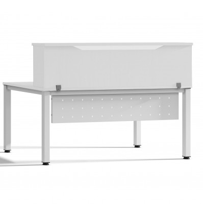 MODULE RECEPTION LOFT 200cm WHITE/WHITE SIZE 200x40x30cm (Table Not Included In The Price, You Buy Separately)