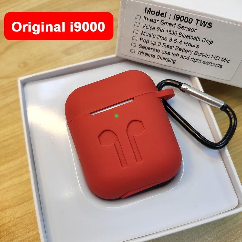 Nova i9000 8D TWS Smart Sensor de Verificação De fone de Ouvido fone de Ouvido Sem Fio Super Bass Bluetooth 5.0 Fones De Ouvido pk Chip de h1 i800 i1000 i2000 tws