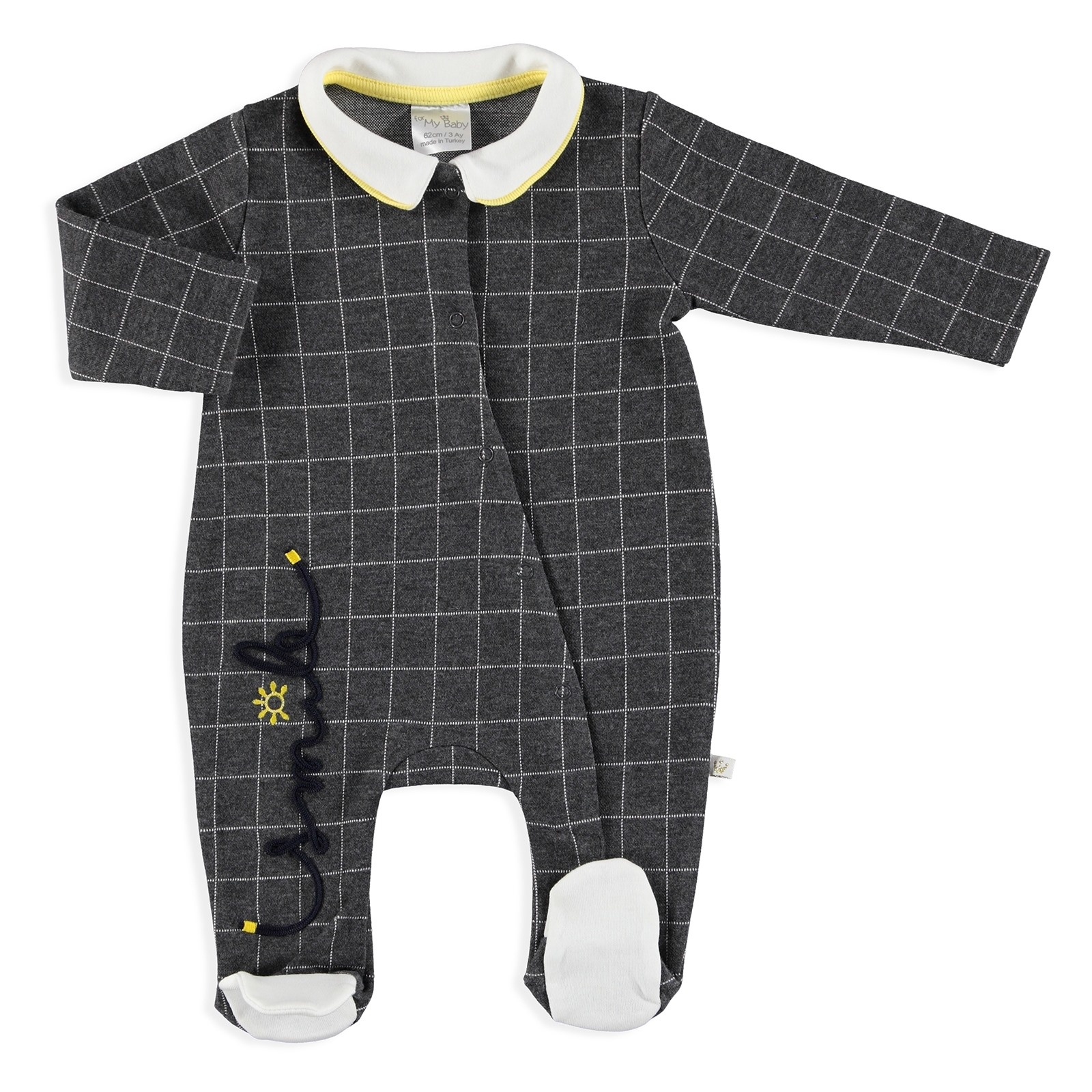 Ebebek For My Baby Winter Smile Polo Neck Zippered Footed Romper