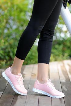 Różowe Potin damskie buty w proszku A1971-20 tanie i dobre opinie Pembe Potin Oksfordzie TR (pochodzenie) Sztuczna skóra Gumką Pasuje prawda na wymiar weź swój normalny rozmiar Na co dzień