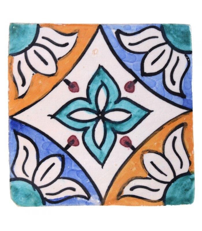 Azulejo Andalusí - 10 cm - Handmade- Model 35