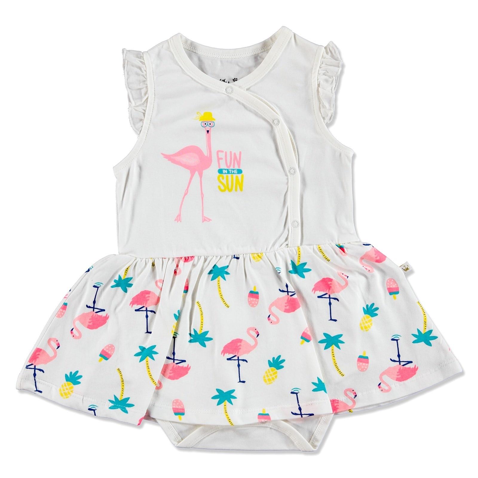 Ebebek For My Baby Summer Girl Flamingo Dress Bodysuit