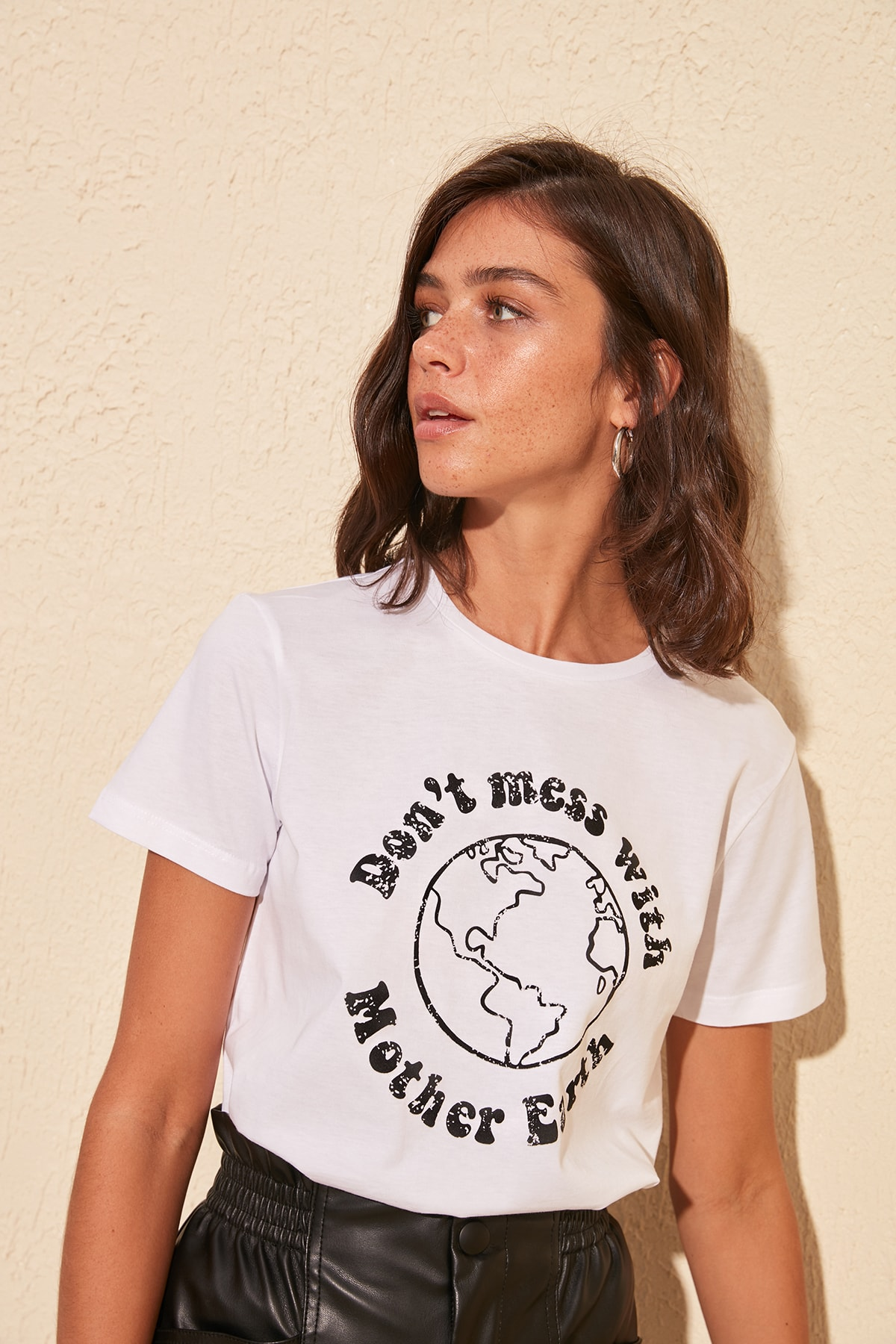 Trendyol Printed Basic Knitted T-Shirt TWOSS20TS0162